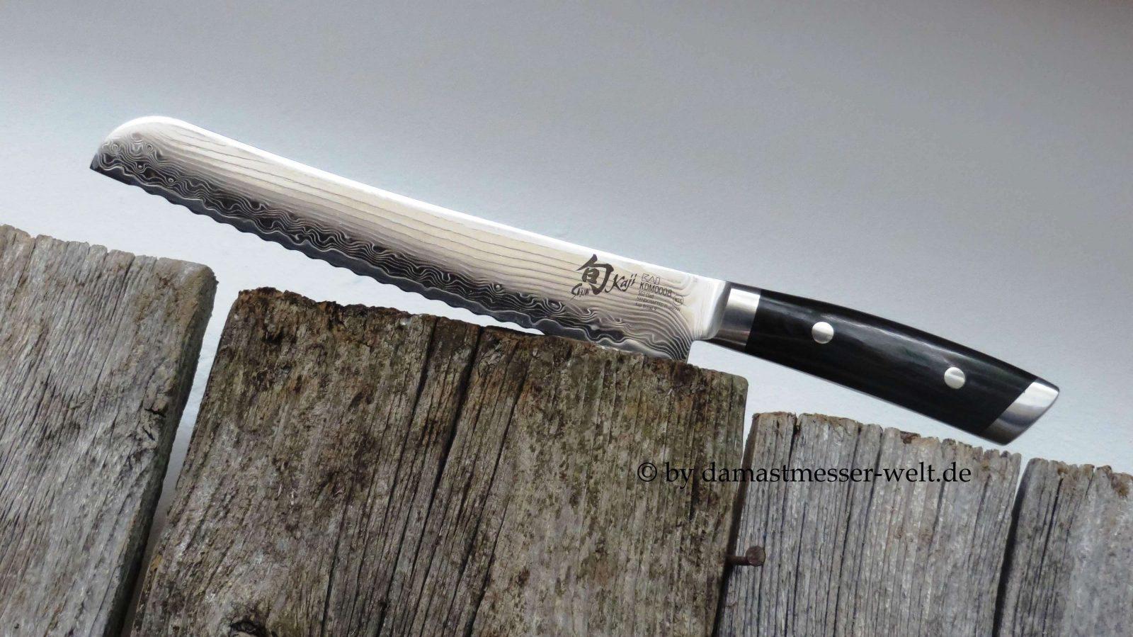 Damastmesser Kai Europe Brotmesser Bild für Startseite