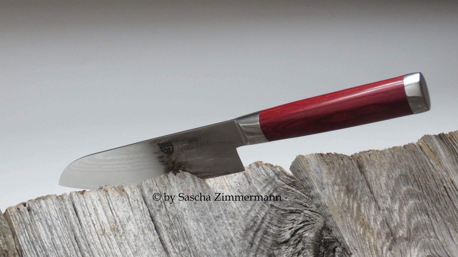 GRÄWE Damastmesser Santoku mit Hartholzgriff Damastmesser Copyright2