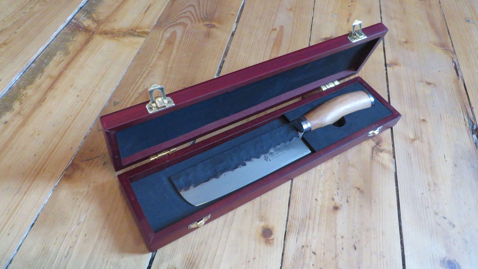 Wakoli Damastmesser in Holzbox